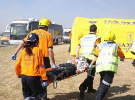 Asistencia sanitaria en catástrofes para ambulancias