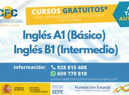 Cursos Gratuitos de Inglés A1 (Básico) e Inglés B1 (Intermedio)